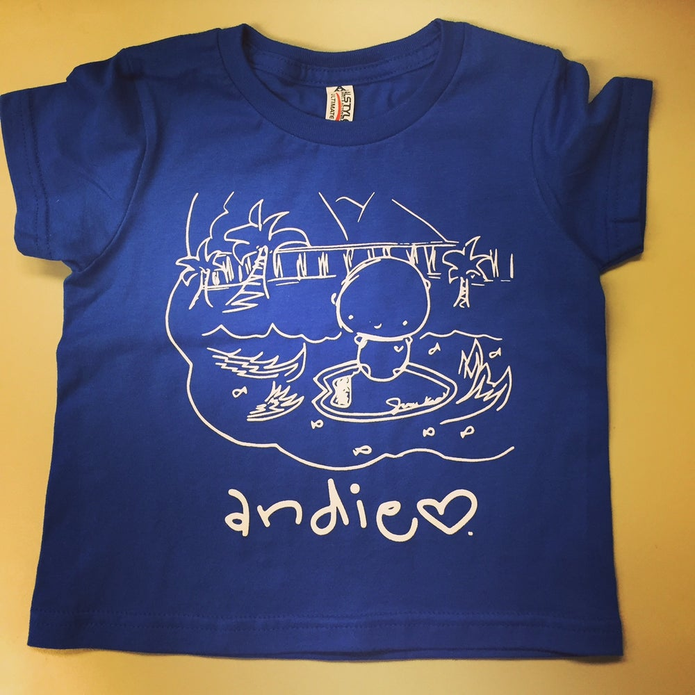 Image of ANDIE + dog tag: you're it dog rescue TODDLER/BLUE t-shirt (2016 design)