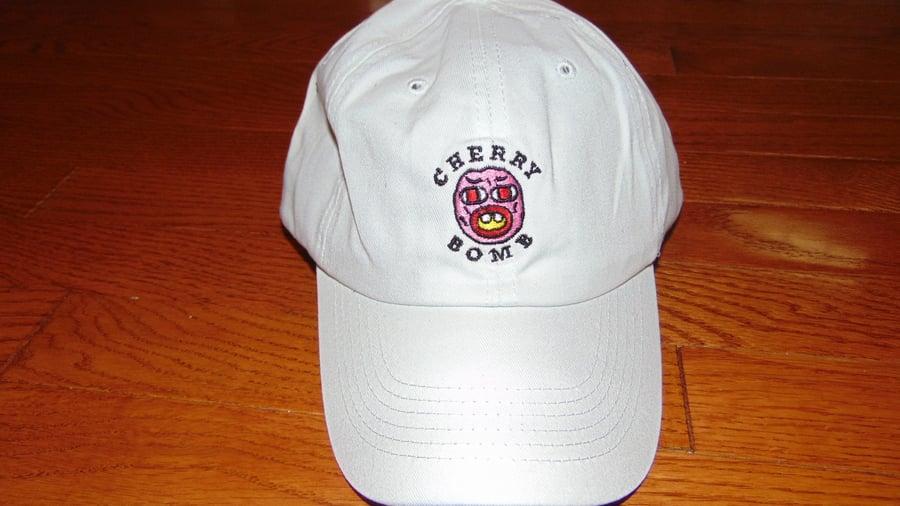 Image of Cherry Bomb Dad Hat (White)