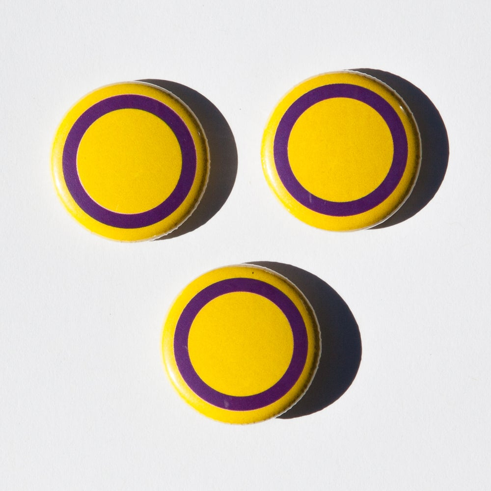 Image of Intersex flag badges (3)