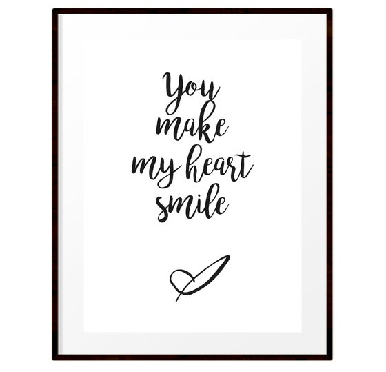 Image of You make my heart smile print