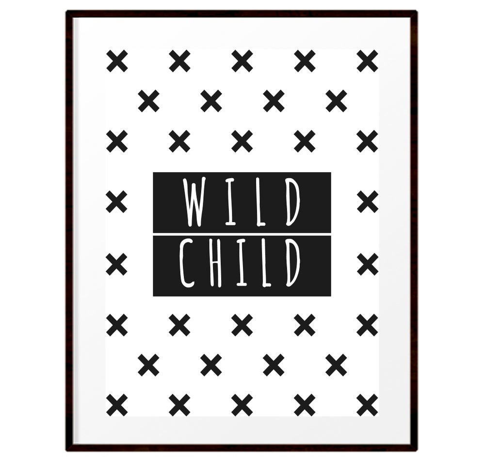 Image of Wild child print
