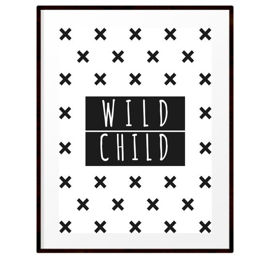 Image of Wild child print
