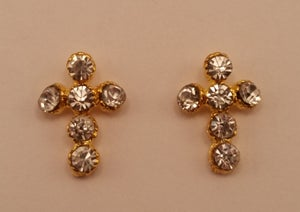 Image of Cross nail charms (2pcs) 13x10mm Gold 13x9mm Silver