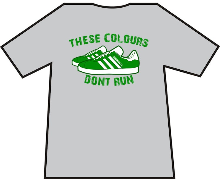 Hibs, Hibernian These Colours Don't Run t-shirts. Footbal Casuals Ultras T-shirt