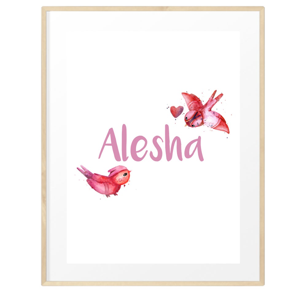 Image of Personalised watercolour name print