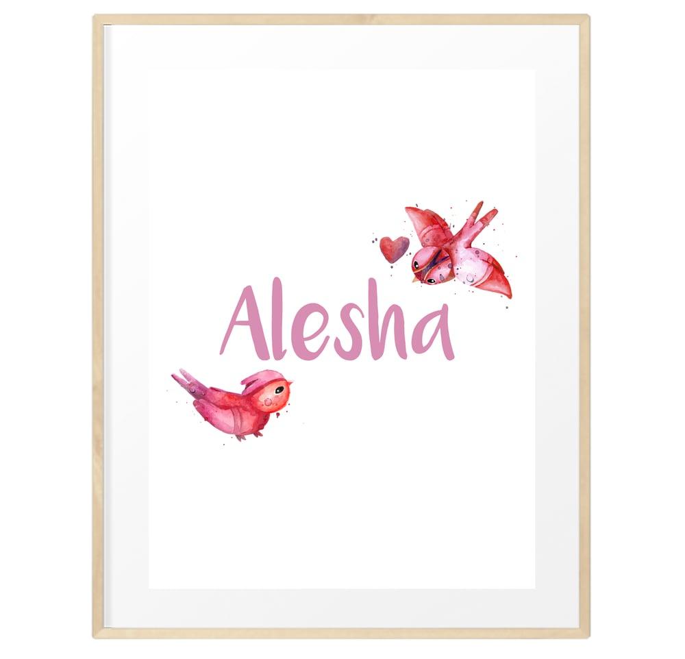 Image of Personalised watercolour name print