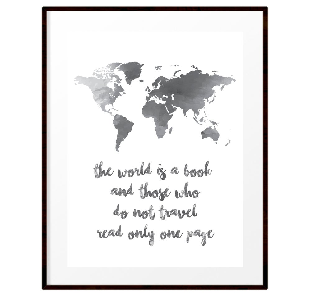 Image of The world is a book print
