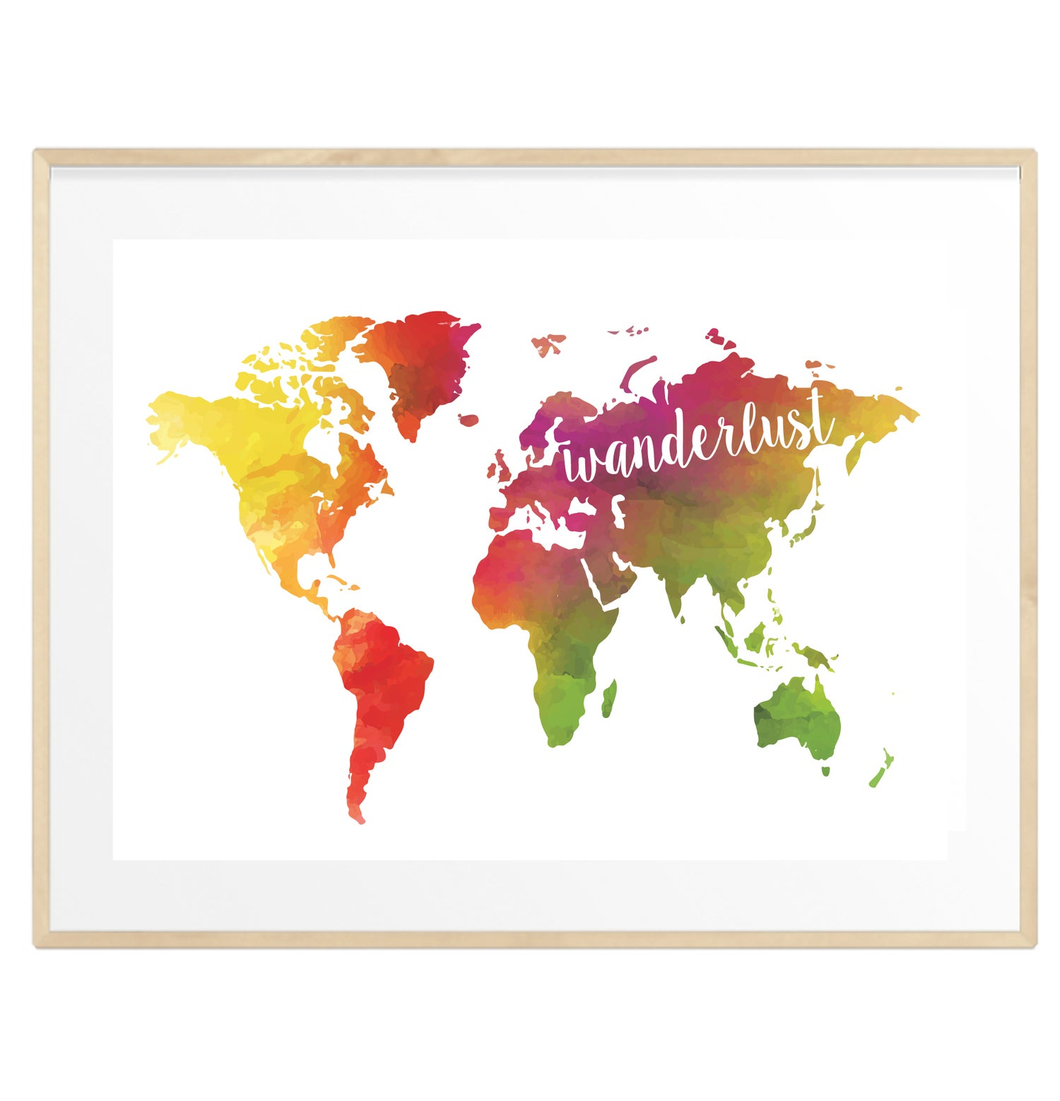 Image of Colourful Wanderlust print