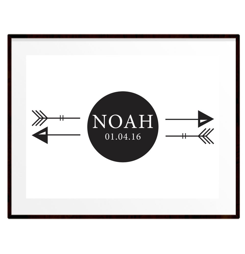 Image of Personalised arrow name print