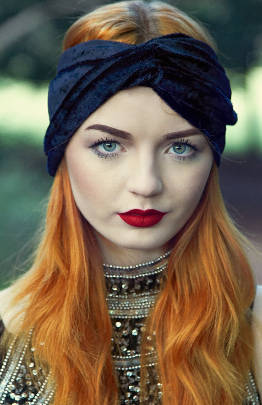 Image of Luxe Velvet Turban Black - Available in 12 colours