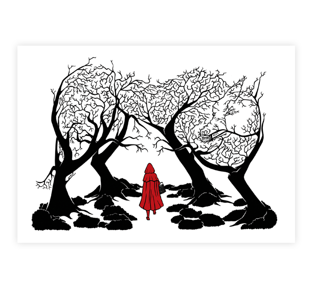 Image of Red Riding Hood Print