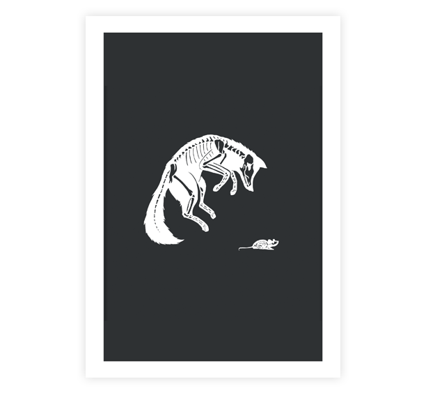 Image of Fox & Mouse Print