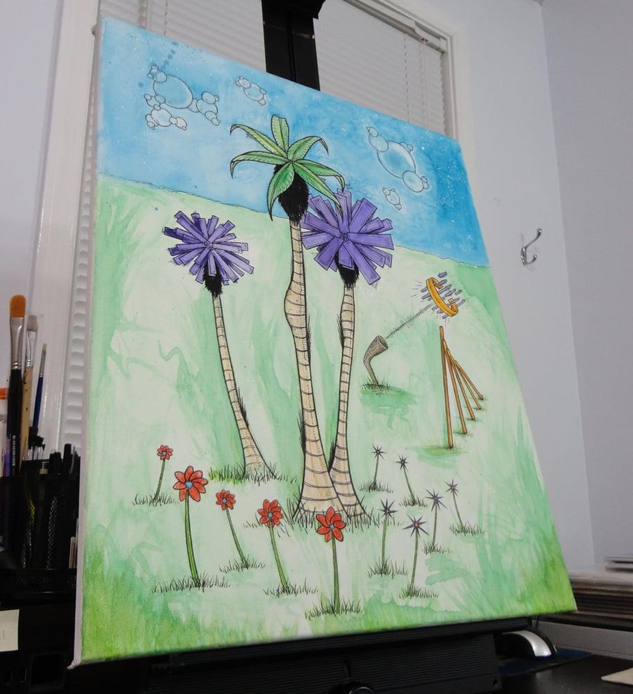 "Image of ""Trees #1"" Original Painting"