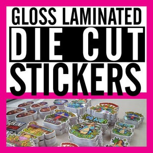 Image of Die Cut Gloss Laminated Vinyl Sticker