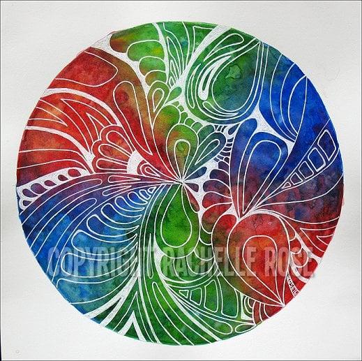 Image of Rainbow Watercolor Mandala