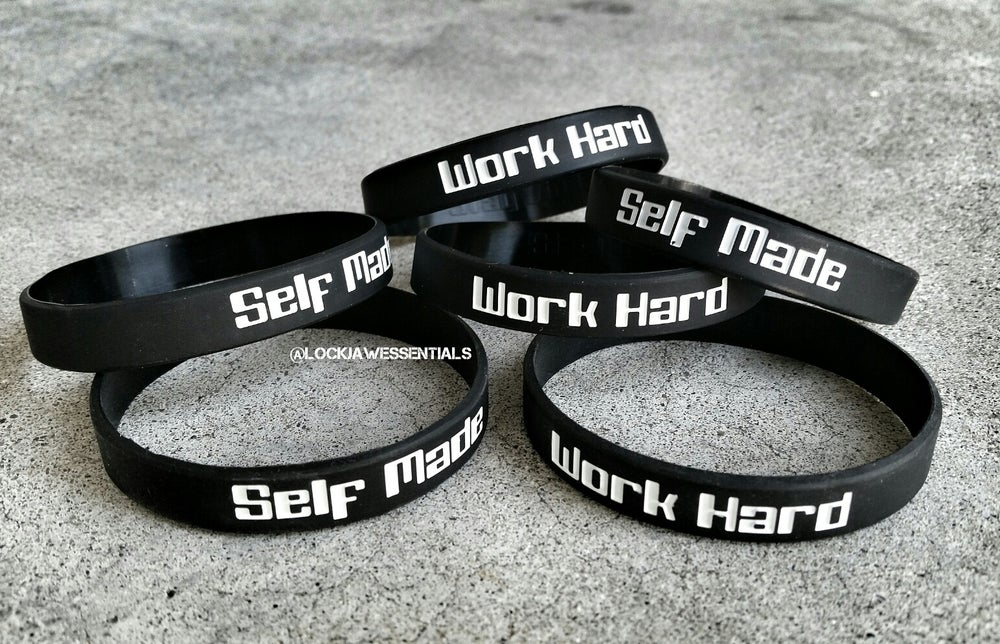 Image of Self Made/Work Hard ( Wrist Bands )