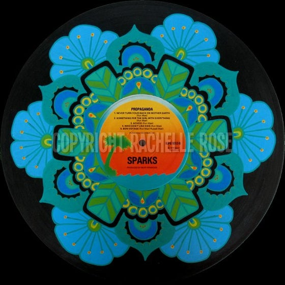 Image of Sparks: Painted Record Mandala