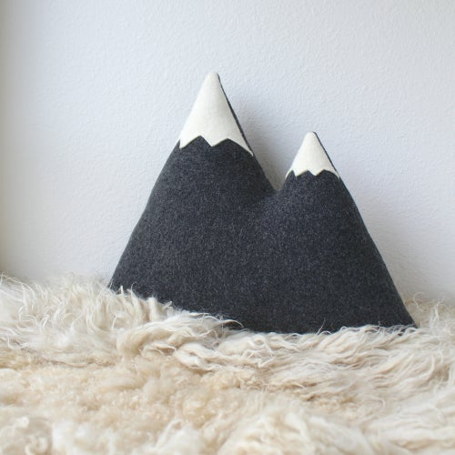 Image of the Peaks - Large Mountain Pillow