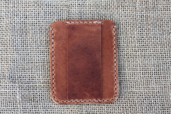 Image of Minimalist Card Wallet With Cash Strap