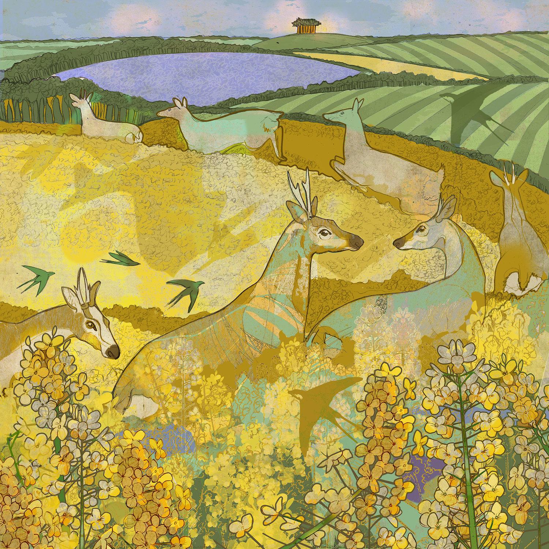 Image of Oilseed Amble - Greetings Card