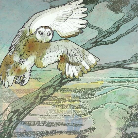 Image of Twilight Flight - Greetings Card