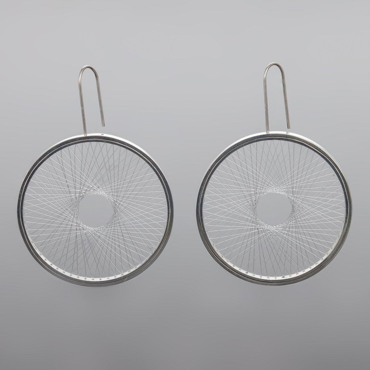 Image of Ear rings 'Single Spirograph'