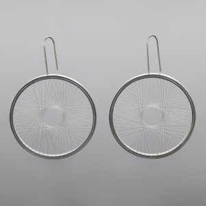 Image of Ear rings 'Single Spirograph'