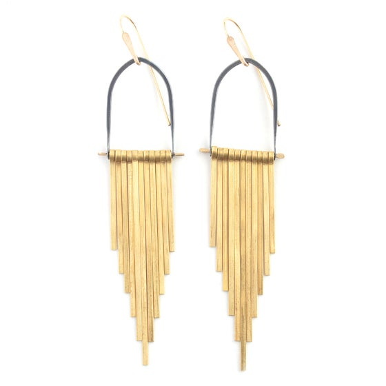 Image of Brass Celestial Earrings