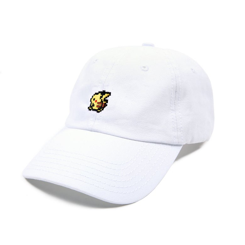 Image of Yellow Rat Low Profile Sports Cap - White