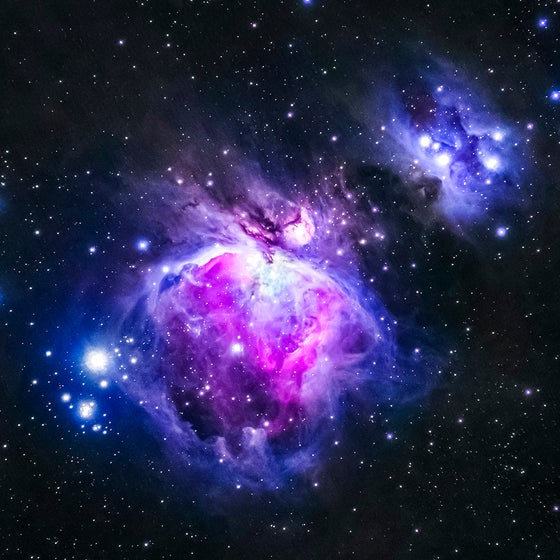 "Image of 12"" x 12"" Aluminum Metal Plate - Orion Nebula"