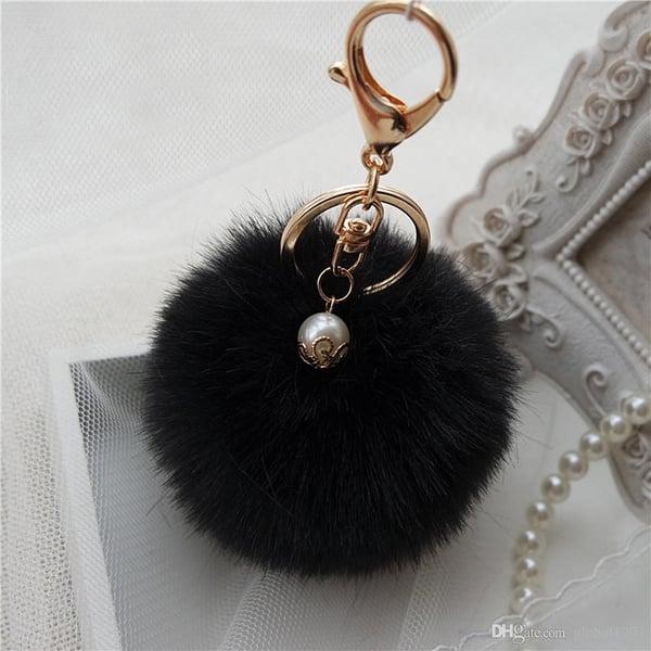 Image of Fluffy PomPom Key Chain