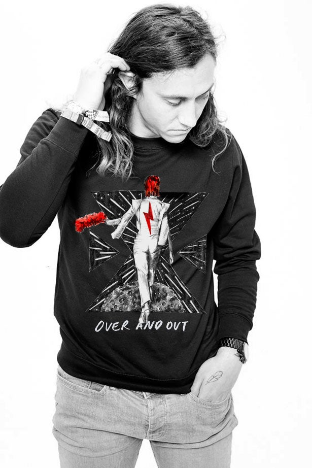 Image of FOREVER BOWIE - OVER AND OUT X SWEAT BLACK