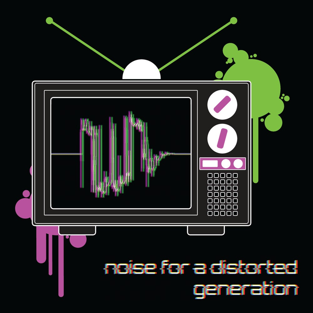 Image of Noise For A Distorted Generation