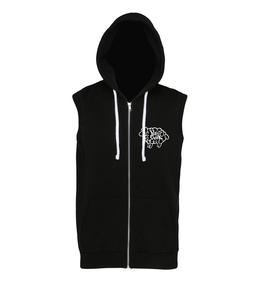 Image of SLEEVELESS HOODIE (BLACK)