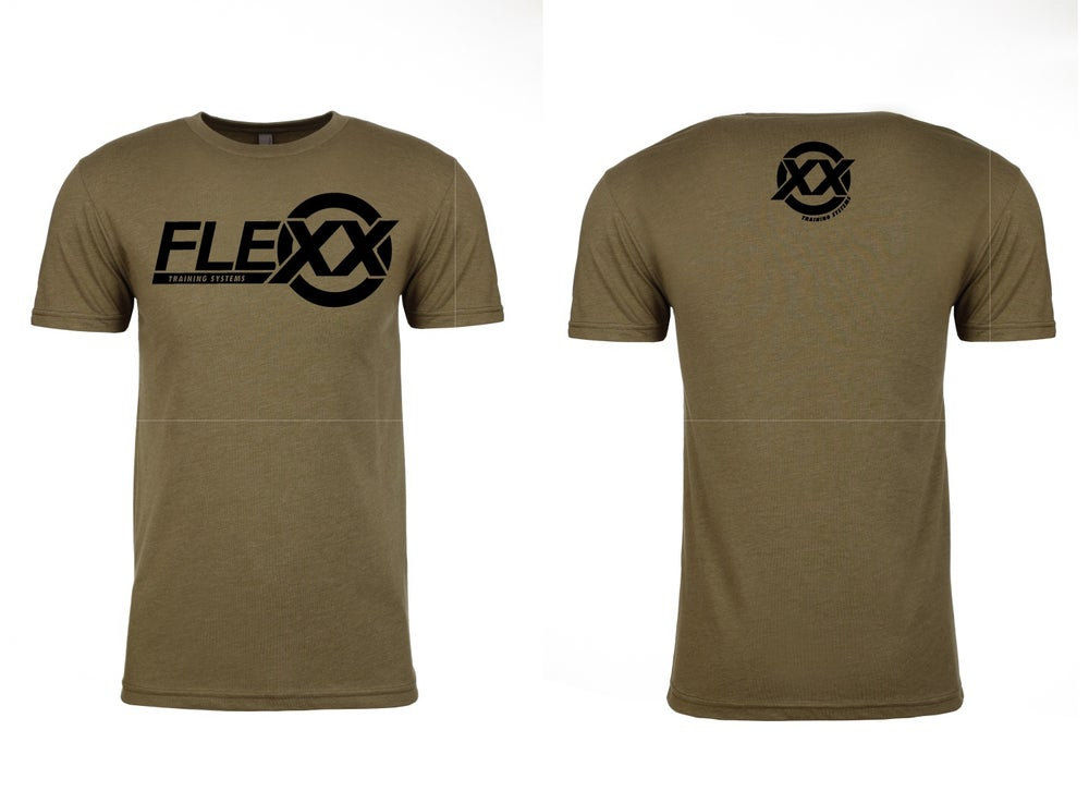 Image of Army Green/Black Men's Flexx Tee
