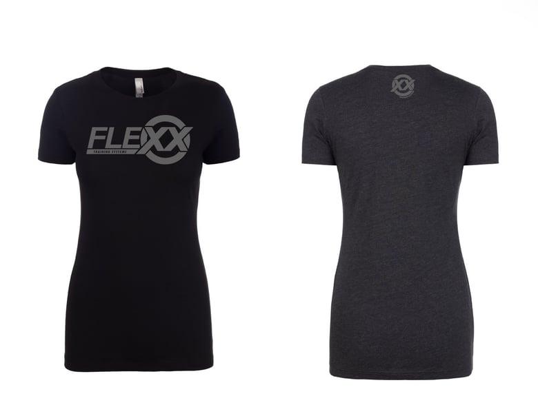 Image of Black/Grey Women's Flexx Tee