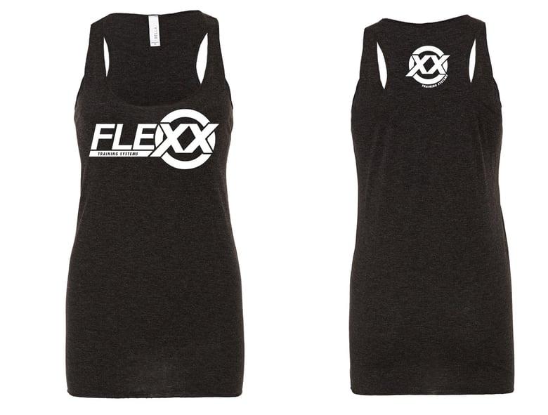 Image of Black/White Women's Flexx Racerback