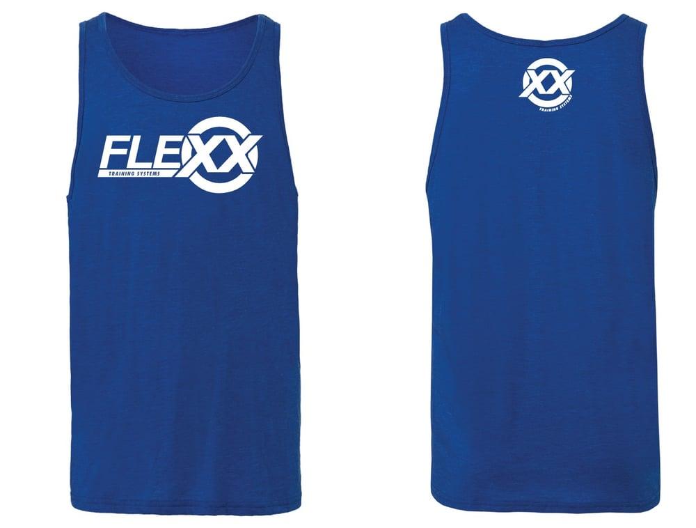 Image of Blue/White Men's Flexx Tank
