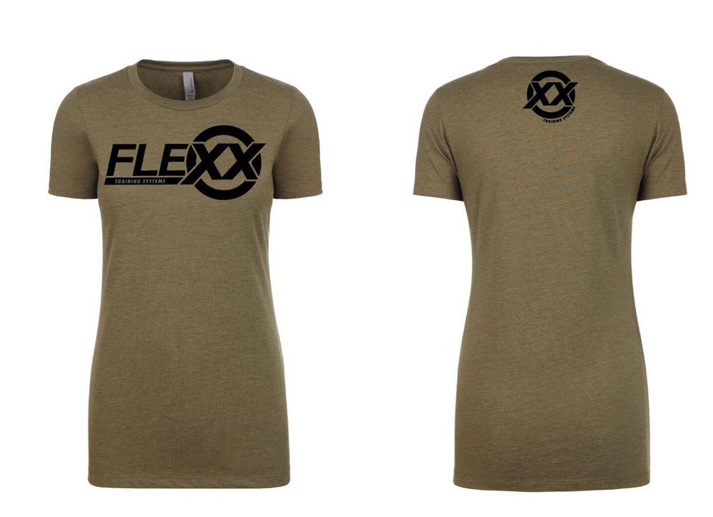 Image of Army Green/Black Women's Flexx Tee