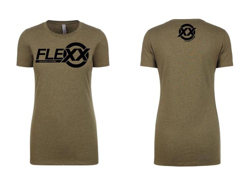 Image of Army Green/Black Women's Flexx Tee