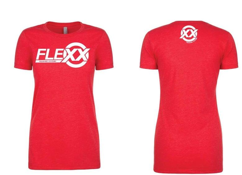 Image of Red/White Women's Flexx Tee
