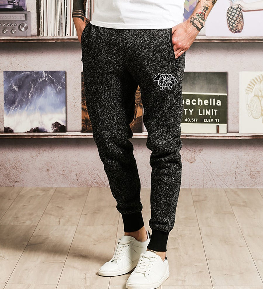 Image of SPECKLED JOGGERS (BLACK)