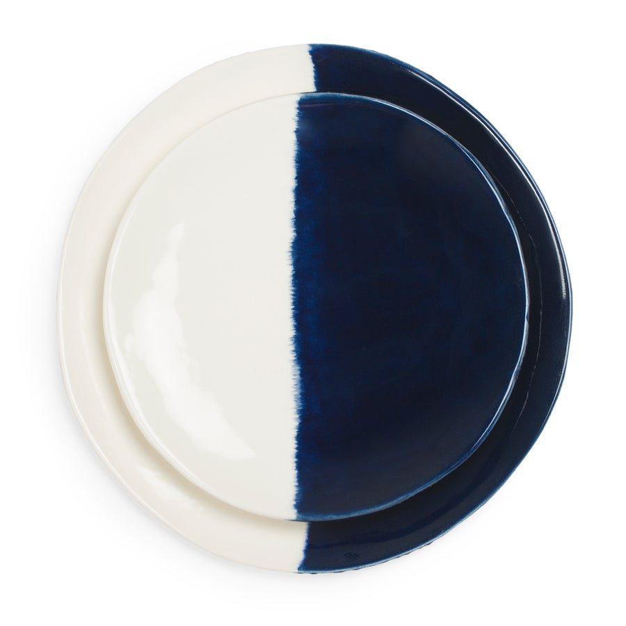 Image of Indigo Ceramic Dinner & Salad Plate Set