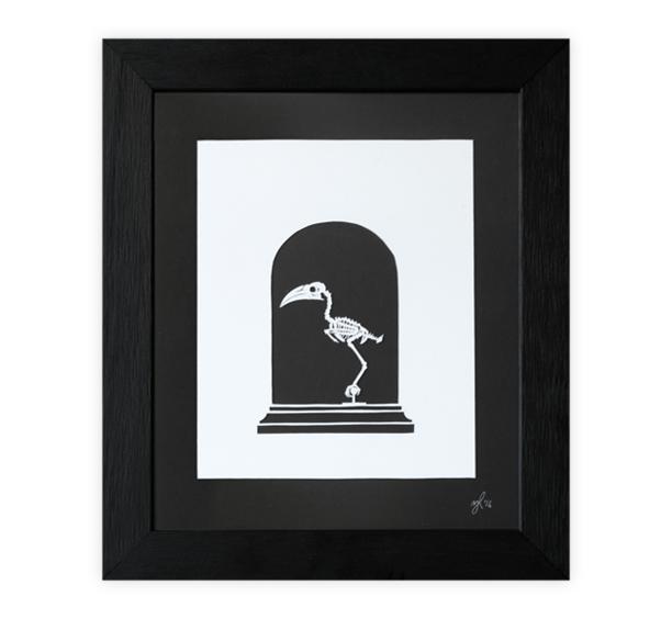 Image of Hornbill Skeleton Papercut