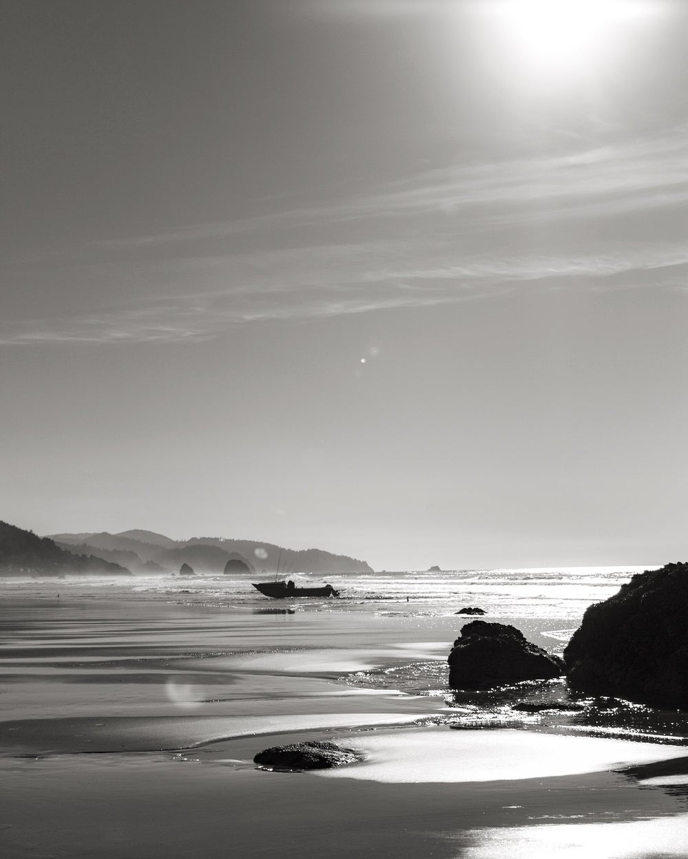 Image of Cannon Beach - B&W Archival Print