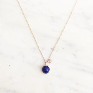 Image of Art Deco Blue Lapis Necklace