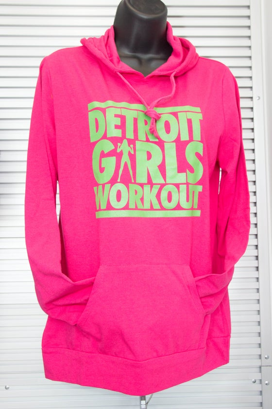 "Image of Detroit ""Jogger"" Hoody (Pink & Green)"