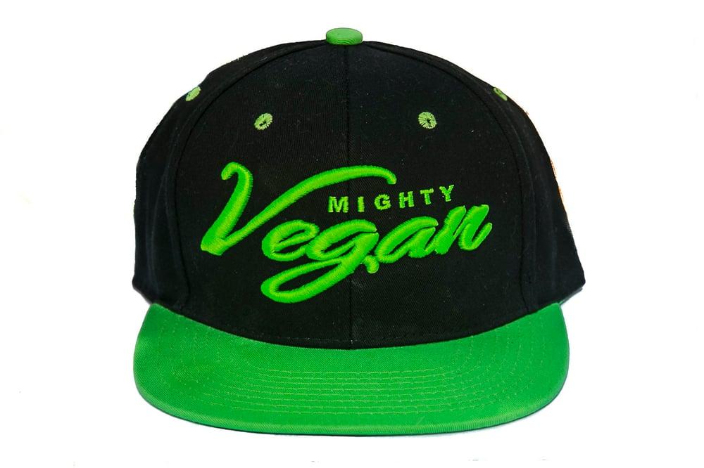 Image of *NEW* MVA BLACK/MIGHTY GREEN SNAPBACK HAT