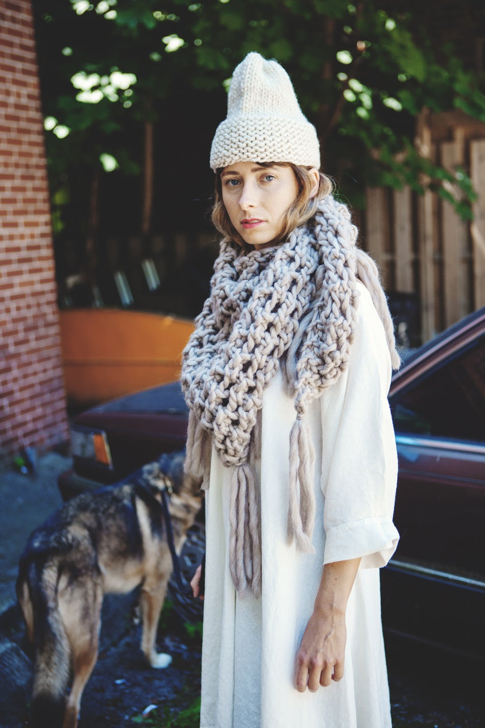 Image of Belleville wrap w/ fringe (shown in fawn-more colours)