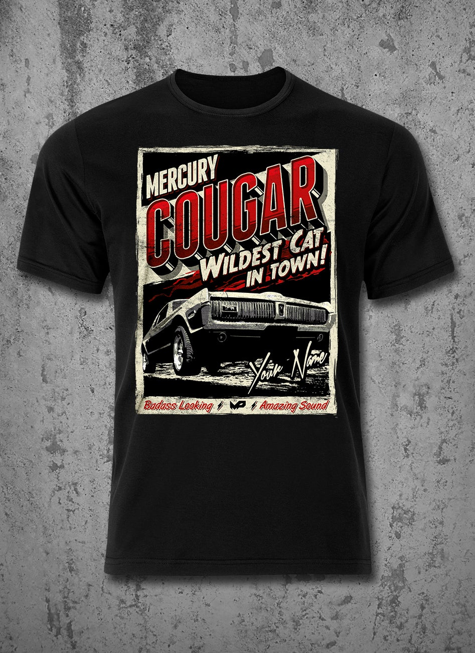 Image of ★ CUSTOM NAME ★ Cougar T-Shirt / Red / Male